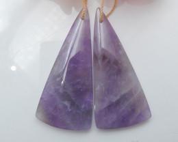 Triangle Gemstone Earrings ,Natural Gemstone ,Wholesale Jewelry C167