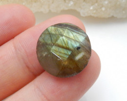 Flash Labradorite ,Handmade Gemstone ,Round Faceted Labradorite ,Lucky Ston