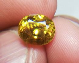 2.05 Oval Mix Cut Full Fire Sphene Stone Titanite Gemstone