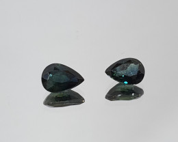 1.5 ct 1 Pair Tear Drop 5x7mm Australian Sapphire(SKU 65)