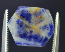 Top Garde 7.05 ct Blue Corundum Kashmir Sapphire Trapiche Slice