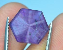 Top Garde 7.80 ct Corundum Kashmir Sapphire Trapiche Slice