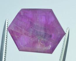 Top Garde 6.85 ct Corundum Kashmir Sapphire Trapiche Slice