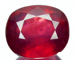 Superb 2.00Ct Pigeon Blood Red Ruby Oval Cut Mozambique