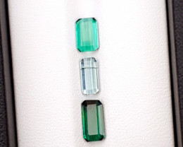 2.45 Ct Natural Blue Green & Light Blue Transparent Tourmaline Gemstone