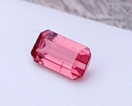 1.70 Ct Natural Rubellite Transparent Tourmaline Gemstone