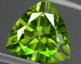 3.05 CTS LUXURY! RICH 9.10 MM TRILLION CUT GREEN PERIDOT PAKISTAN~