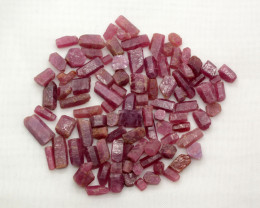 100 Ct Double Terminated Ruby Crystals From Madagascar