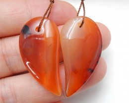37cts Natural Agate Earrings,Handmade Gemstone ,Lucky Stone C187