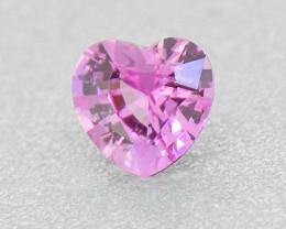Natural UNHEATED Pink Sapphire Heart, well cut .37ct (01363)