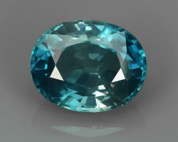 PRIVATE AUCTION -4.50 CTS EXCELLENT BEAUTIFUL BEST BLUE ZIRCON OVAL GEMSTON