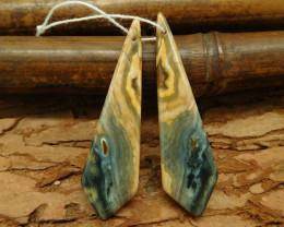 Ocean jasper earring bead long dainty earring match pairs bead (G0024)
