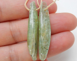 32cts Green kyanite Earrings,Healing Crystals,Protection Crystal,Blue Kyani