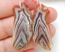 35.5cts Natural Nugget Agate Earrings,Handmade Gemstone ,Lucky Stone C199