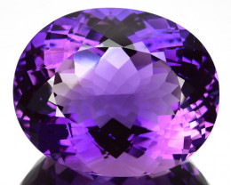 39.33 Cts Natural Purple Amethyst Oval Cut Bolivia
