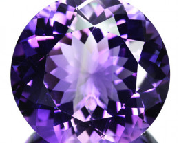 22.62 Cts Natural Purple Amethyst Round Cut Bolivia
