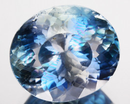 ~RAREST~ 4.35 Cts Natural Blue Apatite Oval Cut Brazil