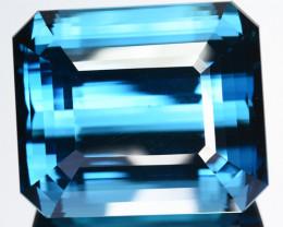~HUGE~ 50.75 Cts Natural London Blue Topaz Octagon Cut Brazil