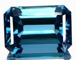 ~HUGE~ 57.45 Cts Natural London Blue Topaz Octagon Cut Brazil
