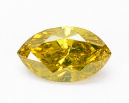 Fabulous 0.18Ct Natural Canary Yellow Diamond Marquise