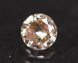 0.35Ct Champagne Fancy Natural Round Brilliant Cut Diamond B2101