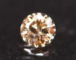 0.31Ct Whisky Diamond Fancy Natural Round Brilliant Cut Diamond B2102