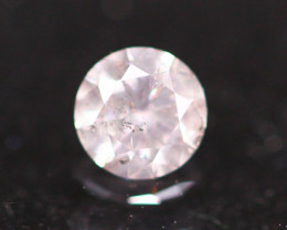 0.24Ct Tinted White Fancy Natural Round Brilliant Cut Diamond B2103