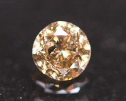 0.43Ct Brown Fancy Natural Round Brilliant Cut Diamond B2104