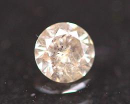 0.25Ct Light Pink Diamond Fancy Natural Round Brilliant Cut Diamond B2106