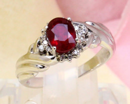 Ruby 3.56g Madagascar Pigeon Blood Red Ruby 925 Sterling Silver Ring E2107