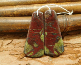 New arrival dragon bloodstone jewelry earring bead for women gift(G0034)