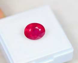 3.72ct Ruby Oval Cut Lot V3903