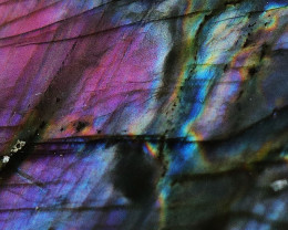 """490.05 CTS  LABRADORITE -PART POLISHED """"ELECTRIC MIDNIGHT [F7858]"""