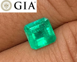 *NR* 1.53 cts GIA Certified Colombian Emerald - Glowing Green