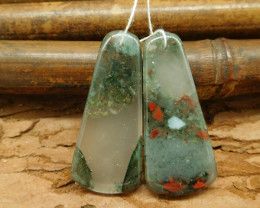 African bloodstone earring beads cabochon pairs bloodstone beads jewelry ma
