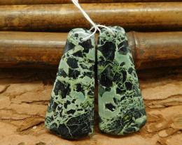 Natural gemstone green jasper earring beads wholesale bead (G0043)