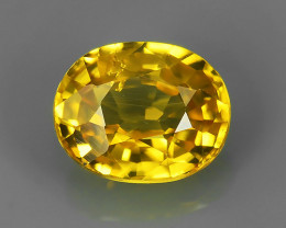 1.35 CTS AMAZING RAREST ! TOP FIRE NATURAL YELLOW- COLOR ZIRCON!!