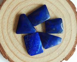 5Pcs lapis lazuli cabochon tiny bead for ring oval cut lapis lazuli cabocho