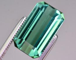 Brilliant Color 5.00 Ct Natural Greenish Blue Tourmaline .AT2