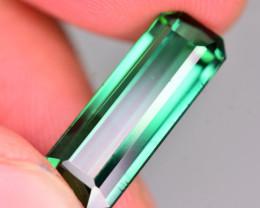 Brilliant Color 8.65 Ct Natural Greenish Blue Tourmaline .AT2