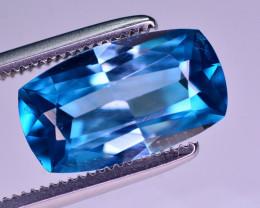 Amazing Luster 3.30 Ct Natural Vibrant Blue Zircon