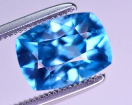 Amazing Color 3.55 Ct Natural Vibrant Blue Zircon
