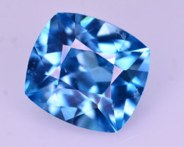 Superb Color 2.60 Ct Natural Vibrant Blue Zircon