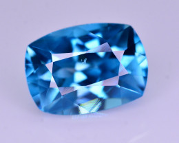Top Quality 3.30 Ct Natural Vibrant Blue Zircon