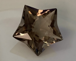 UNIQUE CUT SMOKEY QUARTZ - what a stunner!  TOP GRADE LUSTER