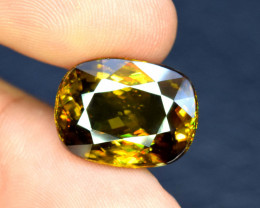 12.75 Carats Full Fire Sphene Titanite Gemstone