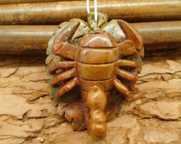 Carved fancy agate scorpion pendant bead animal decoration (G0056)