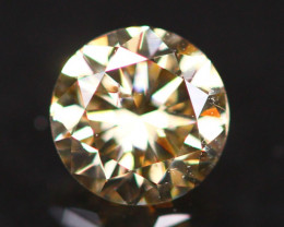 0.41Ct Orange Fancy Diamond Natural Round Brilliant Cut Diamond A2208