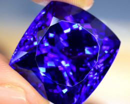 GIL Certified ~ 41.10 cts Vivid Blue Tanzanite