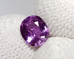 NO HEAT 1.16 CTS CERTIFIED STUNNING PURPLE SAPPHIRE FROM SRI LANKA